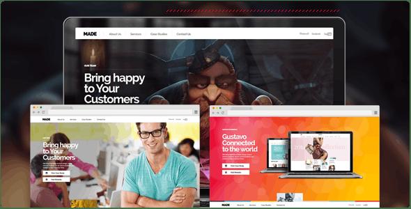 MADE - Parallax One Page Portfolio - Fullscreen - Portfolio Creative
