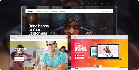 MADE - Parallax One Page Portfolio - Fullscreen