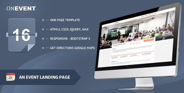 OnEvent - Special Event Landing Page - Events Entertainment