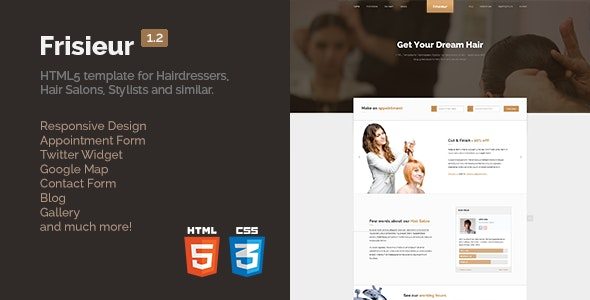 Frisieur - HTML5 Template for Hairdressers - Health & Beauty Retail