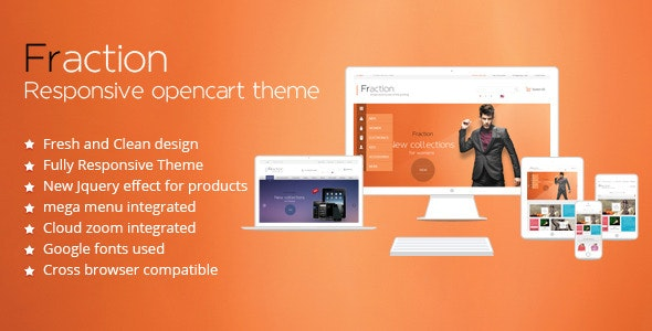 Fraction - Multi-Purpose Responsive Opencart Theme - Fashion OpenCart