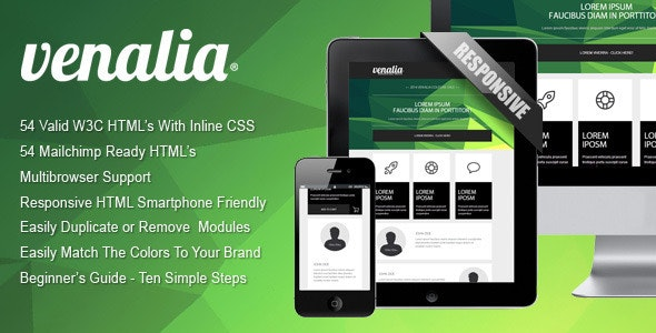 'Venalia' - Responsive And Modular Email Template - Newsletters Email Templates
