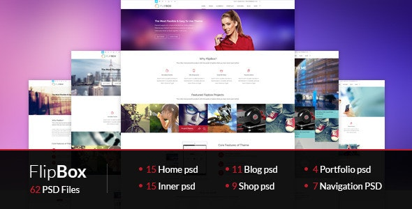 FlipBox-PSD Theme - Corporate Photoshop