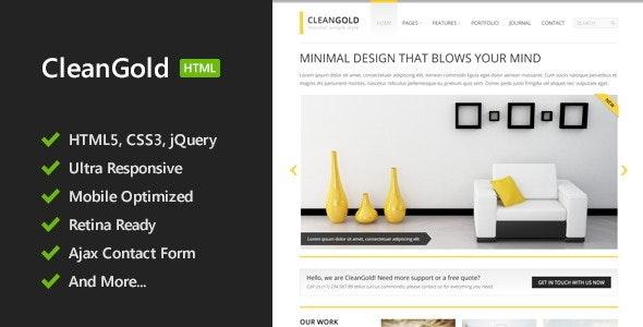 CleanGold - HTML5 Site Template - Portfolio Creative