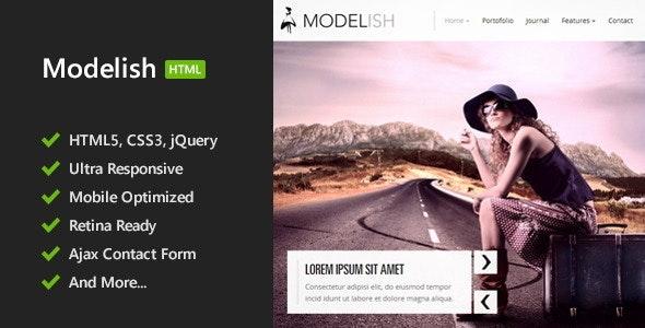 Modelish - HTML5 Site Template - Photography Creative