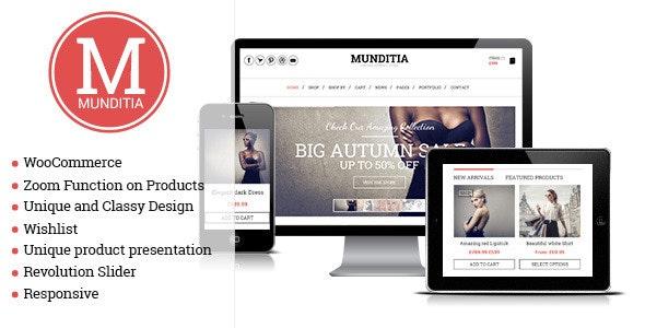 Munditia - Responsive Ecommerce WordPress Theme - WooCommerce eCommerce