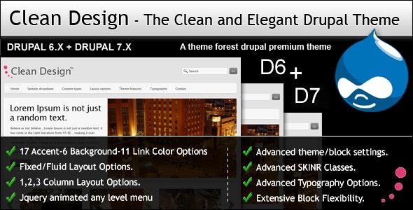 Clean Design - The Clean and Elegant Drupal Theme - Drupal CMS Themes