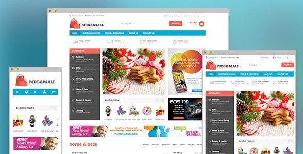 MegaMall - Responsive magento for Super market - Magento eCommerce