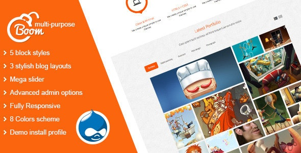 Boom - Multi-Purpose Drupal Theme - Business Corporate