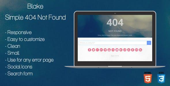 Blake - 404 Not Found Page