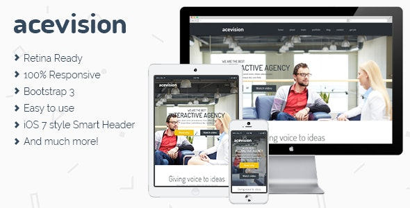 Acevision - One Page HTML template - Business Corporate
