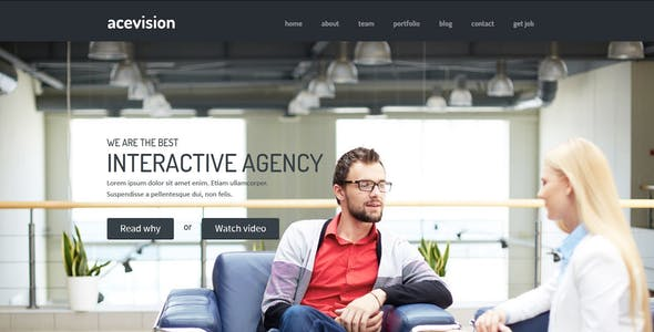Acevision - One Page HTML template