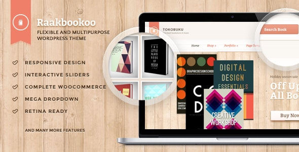 Raakbookoo - Woocommerce Theme For Book Store - WooCommerce eCommerce