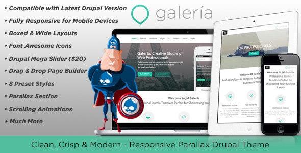 Galeria, Responsive Creative Drupal Theme - Creative Drupal