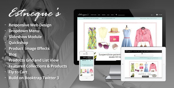 Clothing Store Shopify Theme - EstNeque - Fashion Shopify