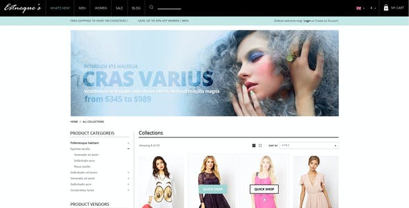 Clothing Store Shopify Theme - EstNeque