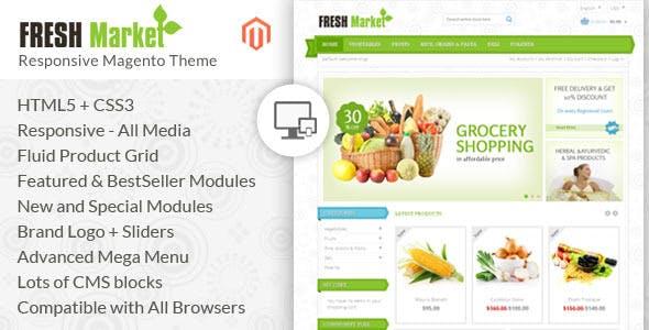Fresh Market - Magento Responsive Theme