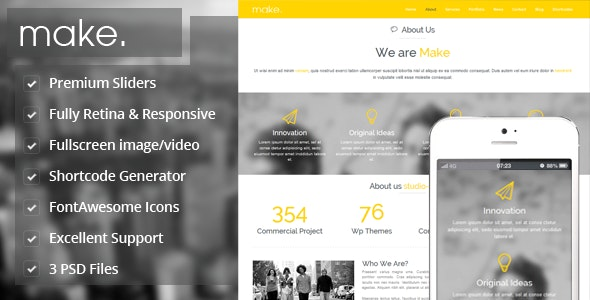 Make - Responsive Parallax Onepage Wordpress Theme - Portfolio Creative