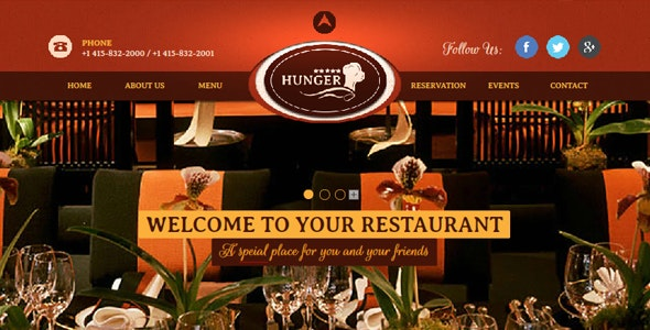 Restaurant / Cafe / Bar Muse Website Theme - Miscellaneous Muse Templates