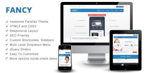 Fancy - Interactive Parallax - Responsive Theme - Technology Site Templates