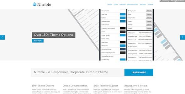 Nimble - A Responsive Business Tumblr Theme