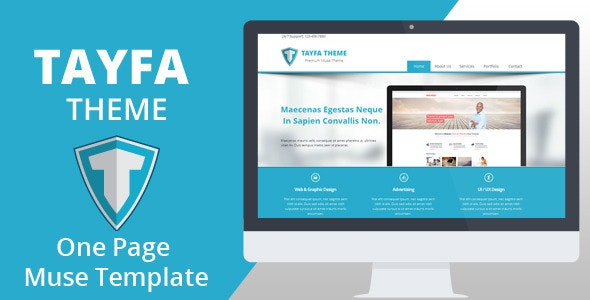 Tayfa One Page Muse Template - Corporate Muse Templates