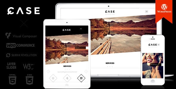 Case / Parallax One-page WordPress Theme - Portfolio Creative