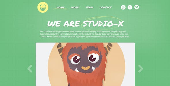 StudioX - Responsive One-Page Template