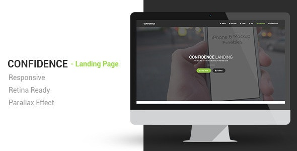 Confidence Responsive Parallax Landing Page - Landing Pages Marketing