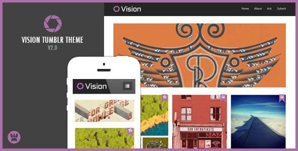 Vision - Responsive Tumblr Theme - Portfolio Tumblr