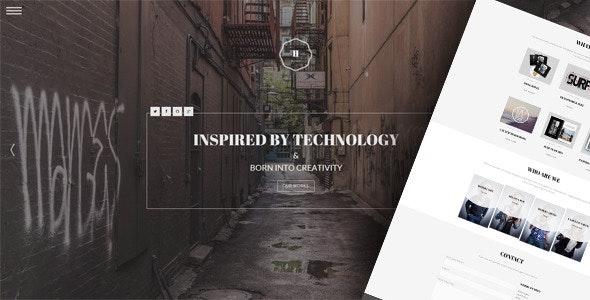 Hephaestus - One-Page Creative Template - Creative Site Templates