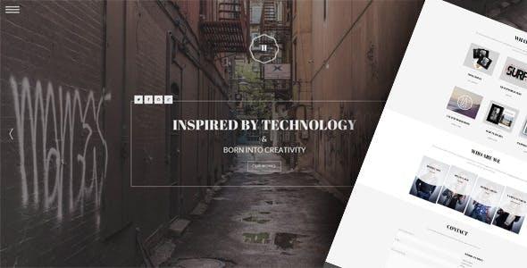 Hephaestus - One-Page Creative Template