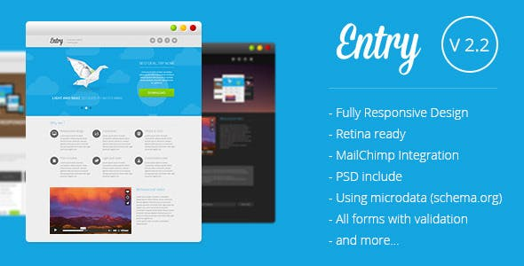 Entry - Startup Landing Page