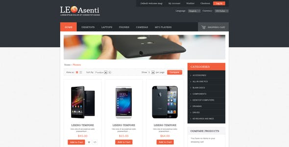 Leo Asenti Prestashop  Electronics Theme