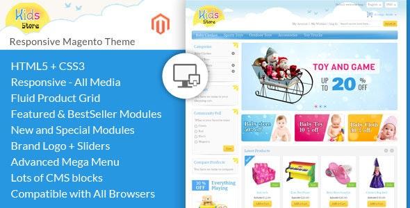 Kids Store - Magento Responsive Template - Magento eCommerce