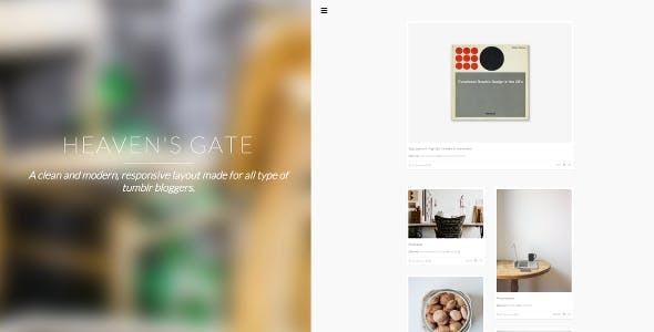 HG Theme - A Modern Responsive Layout for Tumblr