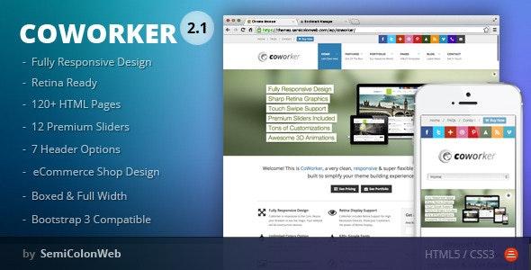CoWorker - Responsive Multipurpose Template - Corporate Site Templates