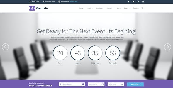 Event On - Event Manager PSD Theme