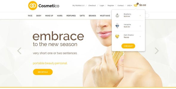 Cosmetico - Modern Beauty Shop Template