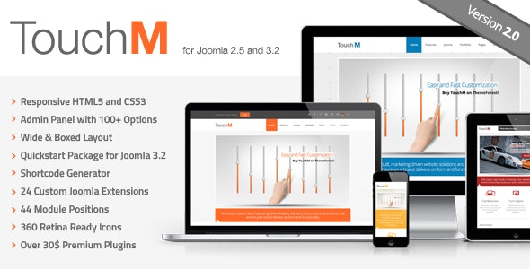 TouchM Responsive Multi-purpose Joomla Template by FourGraFx