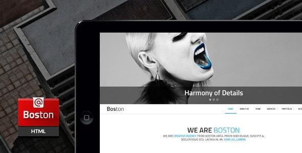 Boston - Corporate Parallax HTML Template - Corporate Site Templates