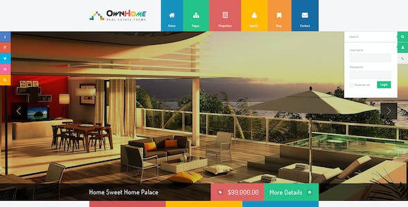 OwnHome - Real Estate Metro Style PSD Template