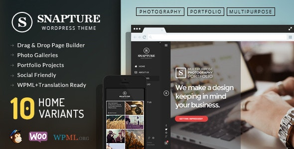 Snapture Photography & Corporate WordPress Theme - Photography Creative