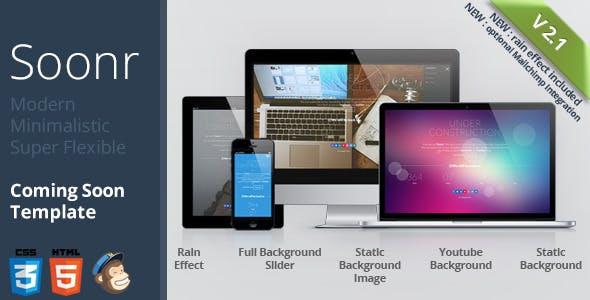 Soonr - Modern Flexible Coming Soon Template