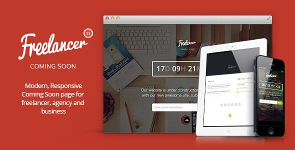 Freelancer - Responsive Coming Soon Template