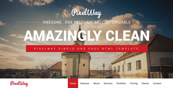 PixelWay Simple One Page Template