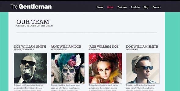 The Gentleman - Photography & Portfolio Theme