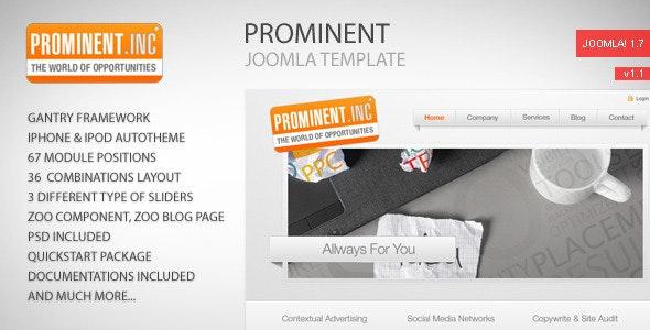 Prominent - Joomla Template - Joomla CMS Themes