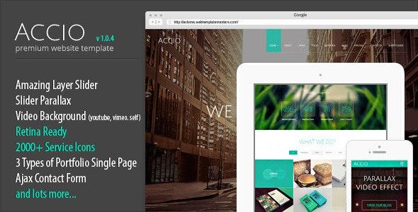 Accio | Responsive Onepage Parallax Site Template - Portfolio Creative