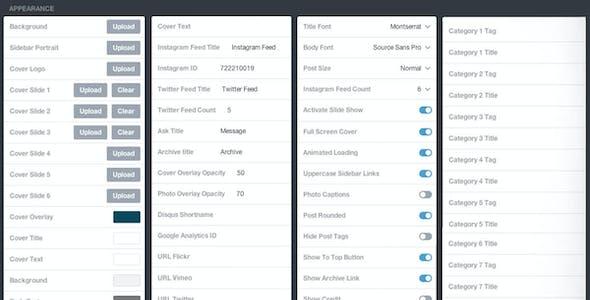 Quantist - A Full Screen Grid Theme